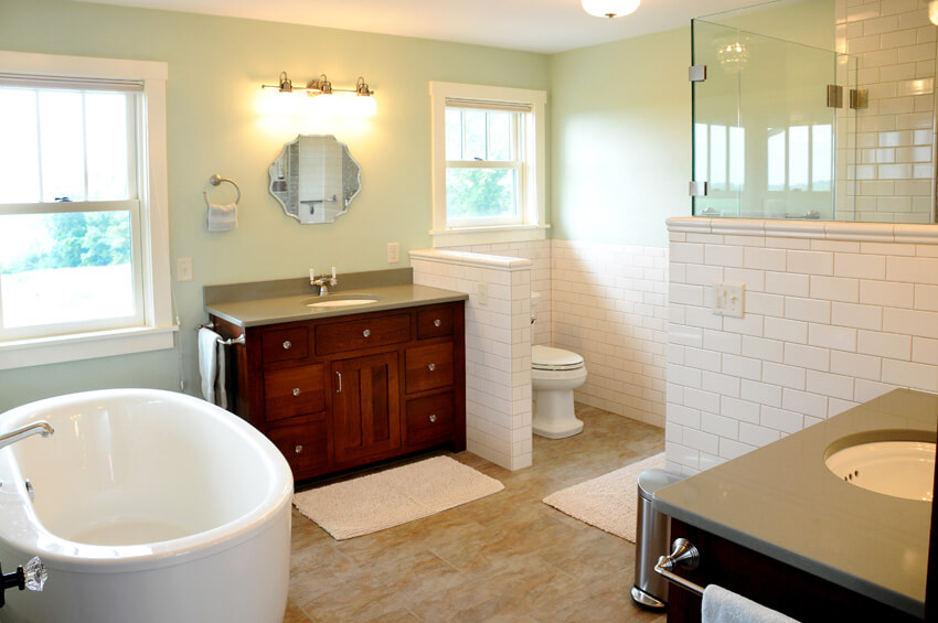 Luxury home builders wisconsin the brio iconic collection for Arts crafts bathroom design