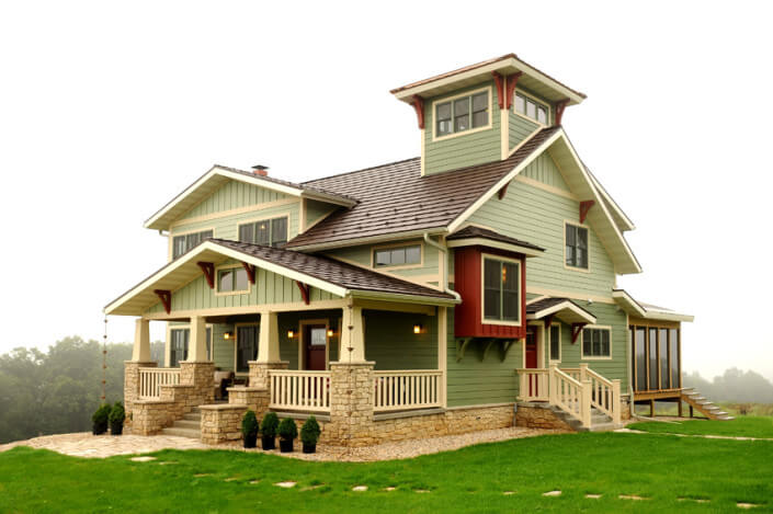 Arts crafts style brio design homes custom home builders in wisconsin - Design homes wi ...