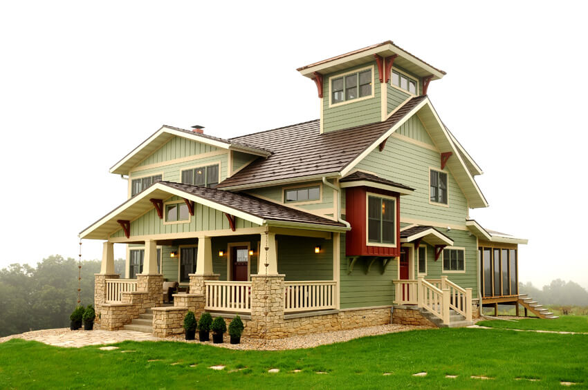 Arts and crafts style homes near madison wisconsin for Arts and craft house plans