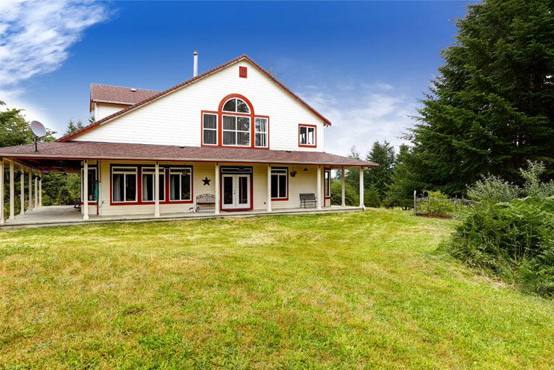 Farmhouse Home Building - Exterior Shot