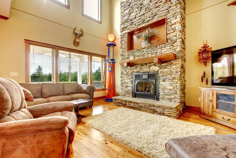 Farm house Home living room Wisconsin