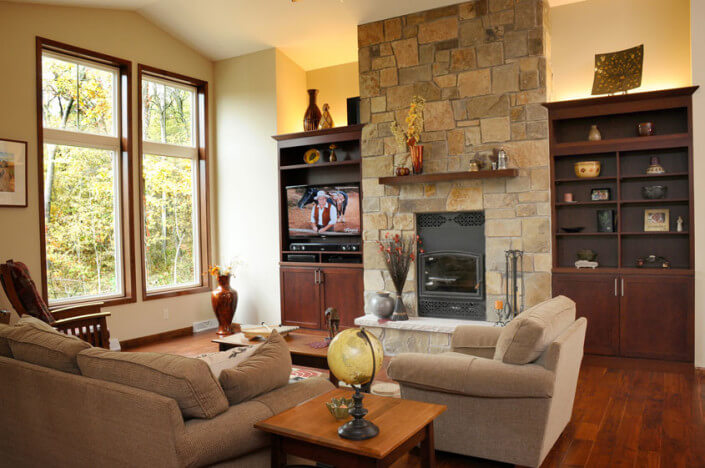 Ranch Style Home Living Room from Brio Home Builders in Madison, WI