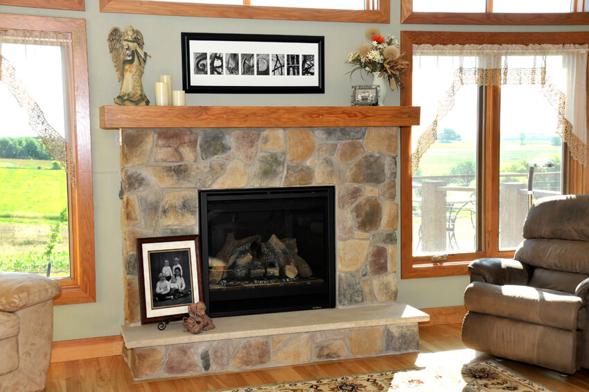 Natural Element Home Builders - Fireplace