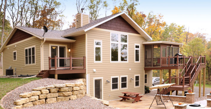 Ranch Style Home Exterior from Brio - Home Builders in Madison, WI