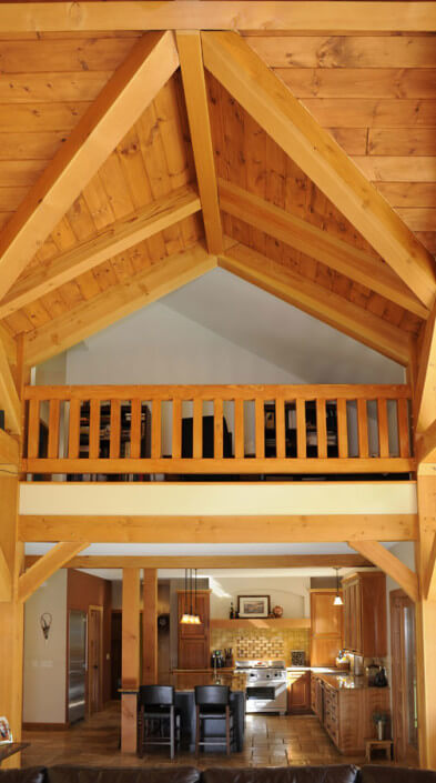 Timber Frame Home Builders - Ceiling