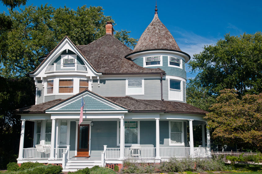 exterior view of a victorian style home