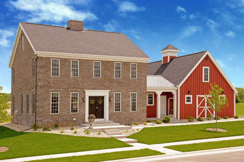 Colonial style homes from brio wisconsin custom home for Home builders wisconsin