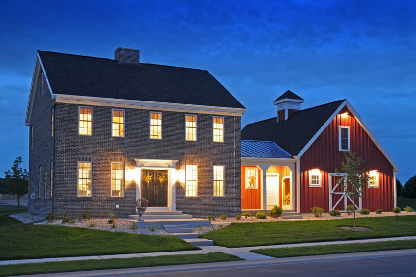 Colonial style 1 brio design homes custom home builders in wisconsin - Design homes wi ...