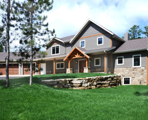 timber frame style home