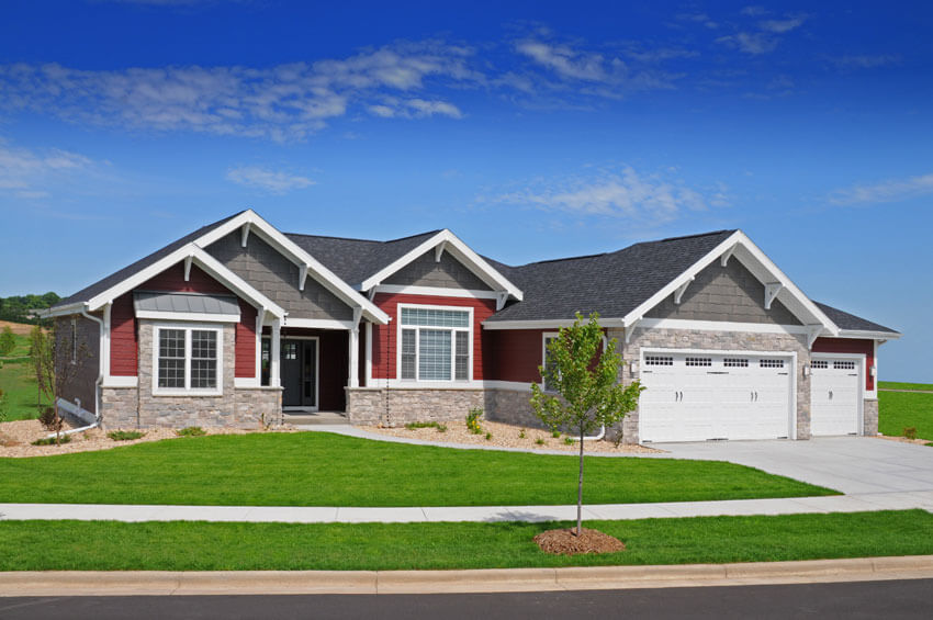 Craftsman ranch style brio design homes custom home for Craftsman style ranch house