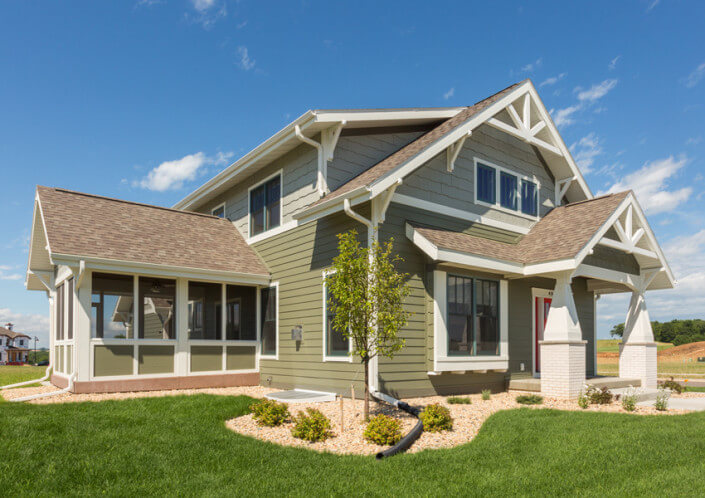 Luxury home builders wisconsin the brio iconic collection for New construction craftsman style homes