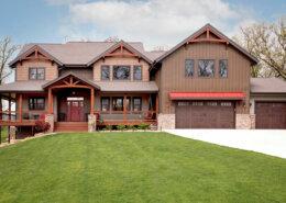 modern timber frame home