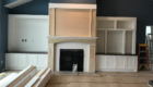 fireplace with built in
