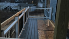 trex decking and railing white and black accents