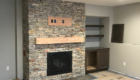 lower level stone fireplace