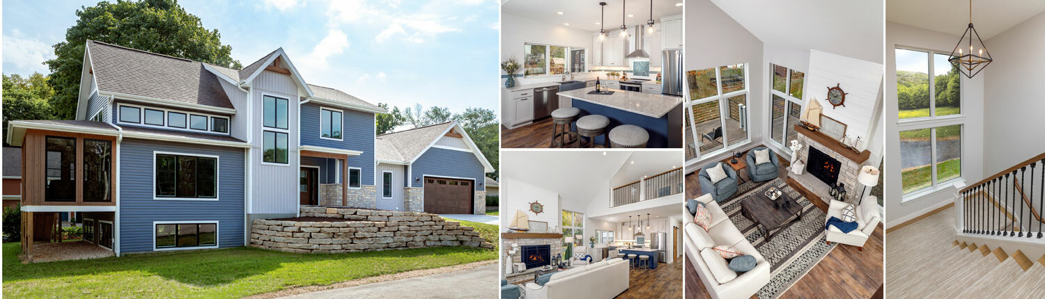 traditional style home collage